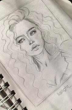 Girl Drawing Sketches, Art Drawings Sketches Simple, Pencil Art Drawings, Art Inspiration Drawing, Art Sketchbook, Aesthetic Art, Art Tutorials, Drawing Techniques, Ideas