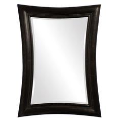 Fairmont Glossy Metallic Black Mirror