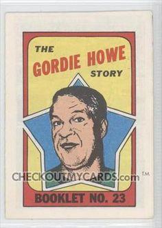 1971-72 O-Pee-Chee/Topps Booklets #23 - Gordie Howe