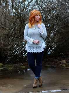 Lace Trimmed Sweater & Leopard Wedges: Why I Do What I Do