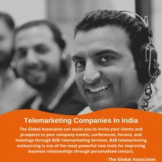 The Global Associates can assist you to invite your clients and prospects to your company events, conferences, forums, and meetings through B2B Telemarketing Services. B2B telemarketing outsourcing is one of the most powerful new tools for improving business relationships through personalized contact. #telesales #telemarketing #leadgeneration #b2bsales #b2bleadgeneration