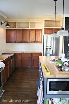 Beautiful Storage Above Kitchen Cabinets