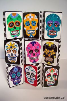 Skull-A-Day - by Kim DiLoreto - love these