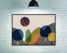 Mountains print mountains art geometric print geometric