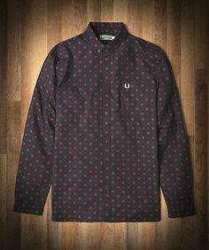 Fred Perry - Button Down Rose Print Shirt
