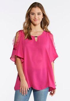 7548e53ecf87a Cato Fashions Lace Cold Shoulder Top  CatoFashions