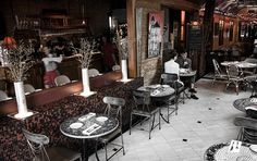 Inside La Crepe Nanou (French) ,,, one of my fave places to eat in NOLA Outdoor Seating, Indoor Outdoor, Crepe Bar, Cute Cafe, Louisiana Recipes, Sea To Shining Sea, French Bistro, Romantic Dinners, Places To Eat