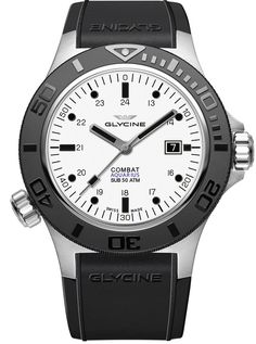 Glycine Watch Combat Sub Aquarius #add-content #basel-17 #bezel-unidirectional #bracelet-strap-rubber #brand-glycine #case-material-steel #case-width-46mm #date-yes #delivery-timescale-call-us #dial-colour-white #gender-mens #luxury #movement-automatic #n