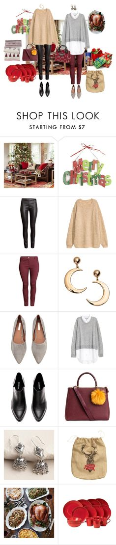 """""""12/25 (Afternoon)"""" by mana-g ❤ liked on Polyvore featuring Pottery Barn, WALL, H&M, Cost Plus World Market, Etiquette, Royal Doulton and Threshold"""