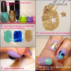 diy nail stickers...very cool!