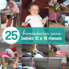 25 brincadeiras para bebês de 12 a 18 meses.