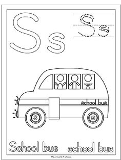 school bus stencil Kids craft project Back to School Bus