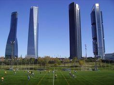 Cuatro Torres Business Area (CTBA) Torre Bankia, PwC Tower, Torre de Cristal and Torre Espacio, Madrid, Spain