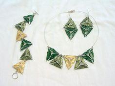 Ohrhänger - Bermuda-Ohrhänger grün - ein Designerstück von fanori bei DaWanda