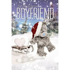 Me To You Tatty Teddy 3D Holographic Card - Gorgeous Boyfriend Christmas Card Me to You Tatty Teddy Christmas Countdown, Christmas Fun, Christmas Cards, Tatty Teddy, Teddy Bear Images, Christmas Decoupage, Blue Nose Friends, Greeting Card Size, Bear Illustration
