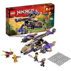 Lego Year 2015 Ninjago Set # 70746 - CONDRAI COPTER ATTACK with 2 Rotating Blades, Side handlebars, 2 Flick Missiles & Movable Tail Wing Blade Plus Rocket Board, Skylor, Chen & Eyezor Minifigures