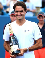 World No. 1 Roger Federer won a record fifth Western & Southern Open title, taking out the World No. 2 Novak Djokovic 6-0, 7-6(7) in a historic match that featured the first time the top-ranked men's players faced off in the final at Cincinnati.