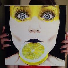 """Lemon"" color pencil drawing of Cristina Otero by anna hammer"