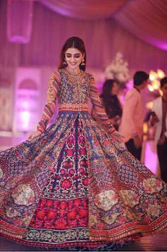 Maya Ali in Gorgeous lehanga by MNR 😍 Pakistani Formal Dresses, Pakistani Wedding Outfits, Pakistani Bridal Dresses, Wedding Dresses For Girls, Pakistani Dress Design, Indian Dresses, Indian Outfits, Lehenga Wedding, Pakistani Couture