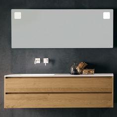 Hängend-Waschtischunterschrank / Holz / modern / mit Lichtspiegel #PL/#PX FALPER