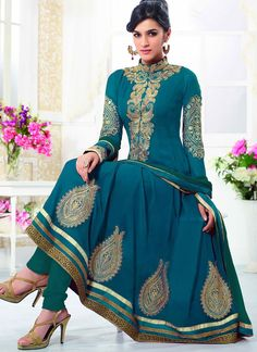 #Kirti #Sanon #Teal #Blue #Georgette #Wedding #Wear #Designer #Anarkali #Suit #Dress #Anarkalidress #WeddingSuit #Weddingdress #LongAnarkaliSuit #BridalDress