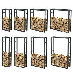 ideas fireplace wood storage indoor decor for 2019 Firewood Holder Indoor, Outdoor Firewood Rack, Firewood Storage, Wooden Wall Design, Metal Garden Art, Wood Shed, Garden In The Woods, Balcony Design, Wood Interiors
