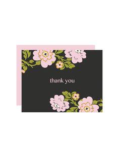 Free Printable Whimsical Botanical Thank You Card Maker from printableweddings.com