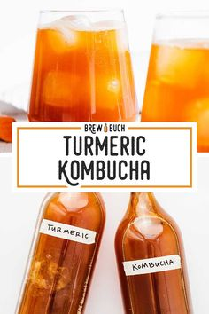 Turmeric is a powerful antioxidant and anti-inflammatory, so of course we're throwing it into our kombucha for a healthier home brew! Here's how to make Turmeric Kombucha. Best Nutrition Food, Fitness Nutrition, Health And Nutrition, Health And Wellness, Nutrition Products, Nutrition Guide, Health Diet, Coca Cola, Kombucha Fermentation