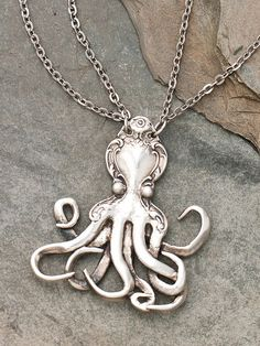 SPOON octopus! I adore spoon jewelry and this is such a unique idea.