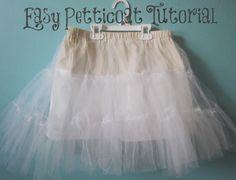 Easy Petticoat Tutorial