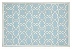Geneva Dhurrie, Light Blue/Ivory on OneKingsLane.com
