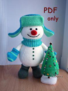 Snowman with a X-mas Tree pdf pattern por jasminetoys en Etsy