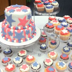 Patriotic cake and cupcakes!