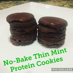 3/4 cup of Chocolate Mint Isalean protein shake, or Dutch Chocolate with 1/4 tsp peppermint extract. 2.5 Tbsp organic cocoa  2 Tbsp unsweetened coconut flakes 1 tsp Stevia 6 Tbsp coconut oil melted  Mix ingredients together in a bowl, then press into bottom of a muffin tin.  Freeze for 5 min, pop out of tin and enjoy.  Store in fridge or freezer.
