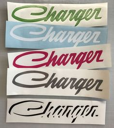 2pcs +2FREE CHARGER Decal Side Vinyl Fender Script Logo Dodge Graphics #Oracal