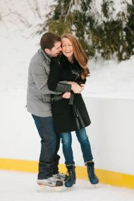 Central Park Ice Skating Engagement Session - Style Me Pretty