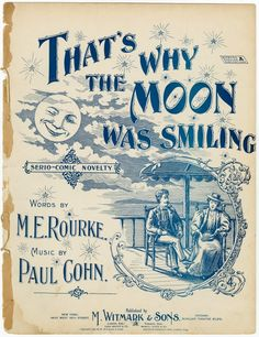 1896 sheet music, That's Why the Moon Was Smiling