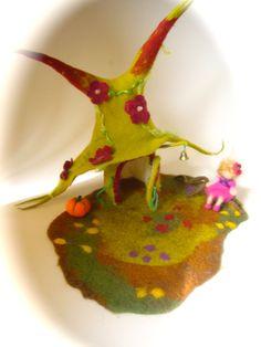 Fairy  House. Hand Felted.Waldorf Fairy elf. Wet Felted.Waldorf.. $85.00, via Etsy.