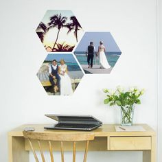 Your Photo Hexagon Wall Stickers