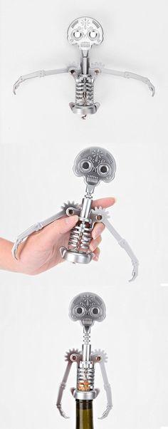 Human skeleton wine bottle opener