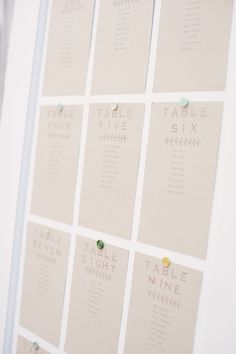 simple seating chart display #diy #seatingchartideas #weddingchicks http://www.weddingchicks.com/2014/03/25/local-green-diy-wedding/