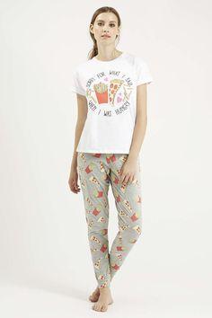 c08a92d39b Hungry Slogan Pyjama Set - Nightwear - Clothing - Topshop Night Suit