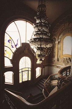 Abandoned Casino in Constanta, Romania Old Buildings, Abandoned Buildings, Abandoned Places, Abandoned Castles, Abandoned Property, Abandoned Mansions, Art Nouveau, Beautiful Buildings, Beautiful Places