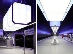 Spændende lysdesign, og top udnyttelse af real estate på website: Designboom: hafencity university subway station -MB
