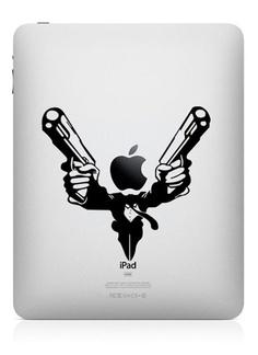 Guns - iPad Decal iPad Stickers iPad iPad 2