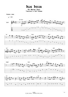 Pat Martino - Blue Bossa (solo) Page 1