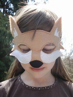 fantastic mr fox mask template - fox mask felt fox and foxes on pinterest