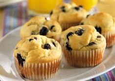 Very Berry Blueberry Muffins - These berry-filled muffins have a cake-like texture. Bake an extra batch and freeze some for a rainy day. Sugar Free Blueberry Muffins, Blue Berry Muffins, Splenda Sugar, Coconut Sugar, Stevia, Diabetic Desserts, Diabetic Recipes, Yummy Recipes, Products