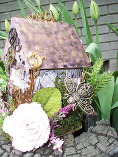 Lisa Scrapbooks: Steampunk Fairy House
