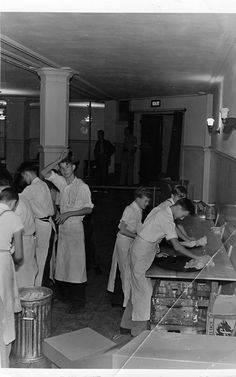 Lunch clean-up at a District Convention 1940's. Loved the burritos